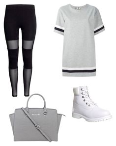 """""""i would wear this"""" by my-savage-self ❤ liked on Polyvore featuring MSGM, Timberland, Michael Kors, women's clothing, women, female, woman, misses and juniors"""