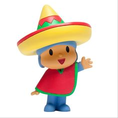 Mexican Pocoyo. ¡¡ So cute !! Wearing his jorongo and mexican hat.