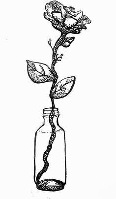 #flower #vessel #bottle #blackandwhite #draw #handdraw #ViannaV