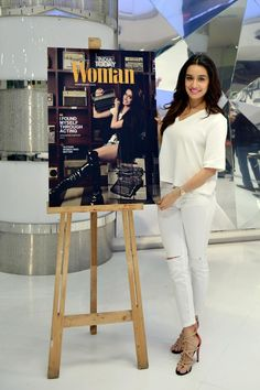 Shraddha Kapoor in an all white ensemble while unveiling India Today Woman's anniversary issue. Beautiful Bollywood Actress, Beautiful Indian Actress, Indian Celebrities, Bollywood Celebrities, Classy Outfits, Chic Outfits, Bollywood Outfits, Bollywood Fashion, Shraddha Kapoor Cute