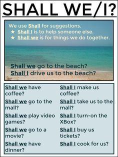 SHALL WE/I? #EnglishVocabulary #EnglishSpeaking #LearnEnglish @English4Matura