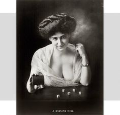 "One of my favorites...from a series of ""soiled dove"" portraits (prostitues) at the turn of the century."
