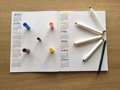 """This is my """"A year at a glance"""" spread. I worked so hard on it.😅 What are you looking forward to this week? At A Glance, You Look, Triangle, Bullet Journal"""