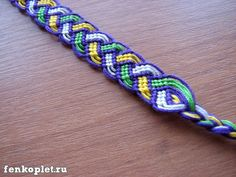 Friendship bracelet tutorial- actually a design that I'd never seen. I made it and it turned out great! Super excited that I learned and pinned this design I had never seen before.