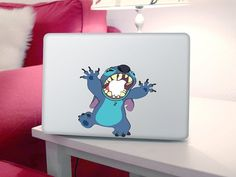 cute for little kids!!!!!!!!!!!! Etsy Macbook decal: Stitch