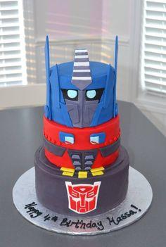 Transformers cake, birthday cake for boys, robot cake