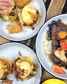 Burnt Toast Cafe | Brixton | Avocado and chorizo eggs Benedict, duck confit Benedict, walnut and fig French toast with butterscotch sauce