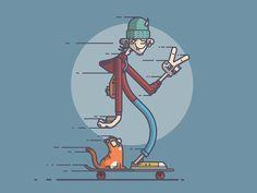 Long Board Cruisin' by Chris Fernandez