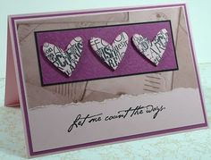 love card  Love the color combo!