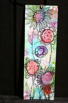 Floral Doodled Bookmarks via Flickr