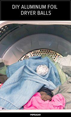 DIY Aluminum Foil Dryer Balls!