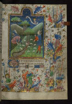 All sizes | Amherst Hours, The Annunciation to the shepherds, with angels, Walters Manuscript W.167, fol. 38r | Flickr - Photo Sharing!