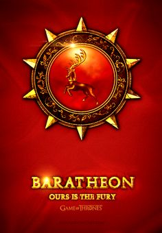 House Baratheon ~ Game of Thrones Fan Art by Jie Feng