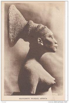 Mangbetu Woman , Africa , 1910s