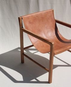 leather sling chair.