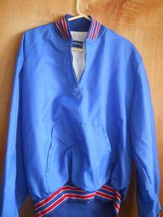 New With Tags Holloway Blue/Red Coach Pullover Jacket, Kangaroo Pocket, XL, USA #RedJacket #VarsityBaseball