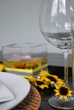 Sunflower wine rings. Awesome.