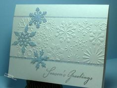 Sparkling Snowflakes by bwstamper - Cards and Paper Crafts at Splitcoaststampers