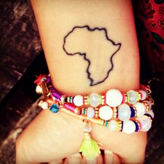 My 3rd tattoo!! I absolutely love it!! Proud to show where I'm from and a constant reminder that home is always with me #tattoo #Africa #inked