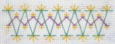 Chevron stitch - part of TAST (Take a Stitch Tuesday). Includes instructions about how to do this stitch.