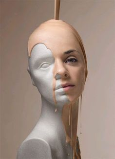 digital art I love how they have taken an manikin and have began to pour the face on its such an interesting use of photo manipulation. Surrealism Photography, Conceptual Photography, Conceptual Art, Abstract Photography, Surreal Art, Creative Photography, Distortion Photography, Inspiring Photography, Photography Editing