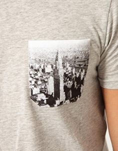 Enlarge ASOS T-Shirt With Contrast Printed Pocket