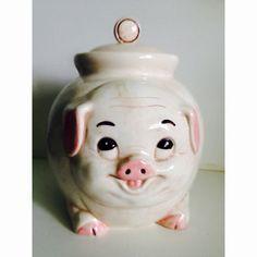 Mid Century Pig Cookie Jar by 4EnvisioningVintage on Etsy