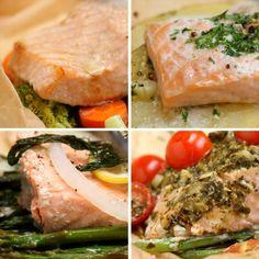 Quatro jeitos de fazer salmão. | 14 receitas do Tasty Demais para fazer para o crush em casa