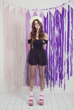 Lost Innocence Playsuit – WND.LND Off The Shoulder Playsuit, Elle Fashion, First Down, Rose Embroidery, Nasty Gal, Tulle, Ballet Skirt, Skirts, Mac