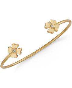 kate spade new york Gold-Tone Four Leaf Clover Cuff Bracelet