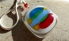 Pretty Primary color hand made necklace by GeckoGlassDesign, $35.00