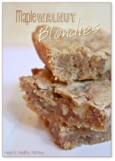 Helyn's Healthy Kitchen: T.J.'s Maple Walnut Blondies. Veganized & Oil-free.