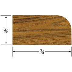 Whitecap Teak Stop Molding Small - 5' - https://www.boatpartsforless.com/shop/whitecap-teak-stop-molding-small-5/