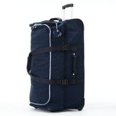 "Teagan Large Wheeled Duffle in True Blue #Kipling 15.25"" L x 30.25"" H x 15"" D #KiplingSweeps"