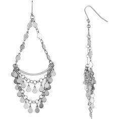 Argento Vivo Carmen Chandelier Earrings ($93) ❤ liked on Polyvore featuring jewelry, earrings, silver, silver chandelier earrings, chandelier earrings, argento vivo jewelry, silver earrings and argento vivo