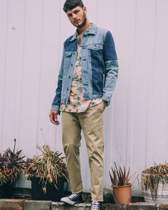 To our Northern hemisphere counterparts preparing to ditch the boardies and tees our latest collection has got you all covered for your all your nippy-season steeze. The B.Rigid Jacket in 90s Panel Indigo Peach Sunset Tourist Short Sleeve and B.Line II Chino in Tan Crop are three new season steamers to get your wardrobe started - available online now with the rest of Motel Cools IV at www.barneycools.com #Lookbook #2017 #Editorial #Inspiration #Menswear #Photography #Model #Style #Streetwear