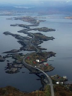 norway. It's not a building but one crazy structure... a bridge that crosses over several islands... wow!