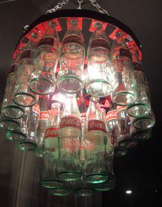 Coke Bottle Chandelier -