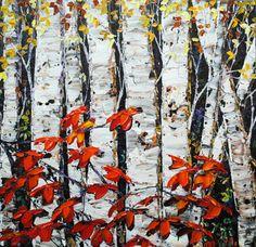 """""""End of Season"""" Create Words, Maya, North America, Scene, Seasons, Landscape, Water, Artwork, Painting"""