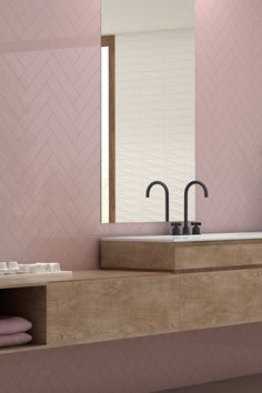 24 Of The Most Stylish Pink Bathroom Ideas For A Stunning Pink Bathroom | Livingetc % | LivingEtcDocument.documentType% Pink Bathroom Tiles, Pink Tiles, Pink Bathrooms, Loft Bathroom, Ensuite Bathrooms, Dream Bathrooms, Small Bathroom, Pink Tub, Pink Baths