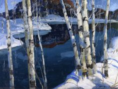 Lie, Jonas (1880-1940) - 1913 Winter Blue (Private Collection)    Oil on canvas; 30 1/8 x 40 1/8 in.  Jonas Lie was a Norwegian-born American painter.     Oil on canvas; 30 1/8 x 40 1/8 in.    Jonas Lie was a Norwegian-born American painter.