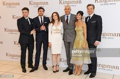 LONDON, ENGLAND - JANUARY 14: (EMBARGOED FOR PUBLICATION IN UK TABLOID NEWSPAPERS UNTIL 48 HOURS AFTER CREATE DATE AND TIME. MANDATORY CREDIT PHOTO BY DAVE M. BENETT/WIREIMAGE REQUIRED) (L to R) Taron Egerton, Edward Holcroft, Sophie Cookson, Mark Strong, Sofia Boutella and Colin Firth attend the World Premiere of 'Kingsman: The Secret Service' at Odeon Leicester Square on January 14, 2015 in London, England. (Photo by Dave M. Benett/WireImage)
