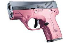 "National Firearms Dealer Network   Beretta Nano 9mm 3.07"" barrel Pink frame Adjustable sights 6 rounds"