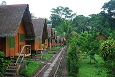 Lodges in the Amazon.