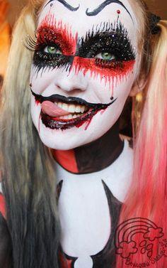 Harley Quinn makeup ideas                                                       …
