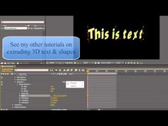 AE Basics Text Animators Part FOUR - Per-character (+playlist) 3d Text, Text Animation, After Effects, Need To Know, Adobe, Character, Youtube, Cob Loaf, Youtubers