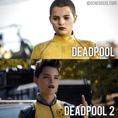 Her hair tempts me. but I know I'd hate it as soon as I did it 😂 Marvel Xmen, Marvel Comics, Brianna Hildebrand, Teenage Warhead, New Mutants 98, Ella Enchanted, Deadpool Movie, Girls Rules, Dc Heroes