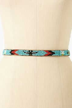 Tucson Beaded Belt in Turquoise