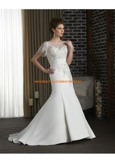 2013 Sexy Brautkleider aus Satin mit Ärmel