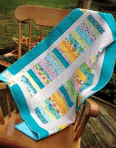Baby Quilt  Lap Quilt   Golden Coins Baby Quilt by birdsongquilts, $110.00